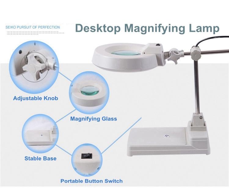 Lt 86b Magnifying Glass Lamp Round Head Desktop Magnifying
