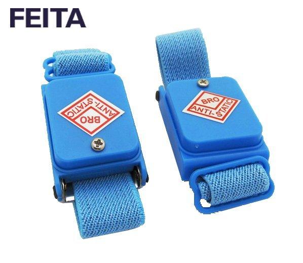 Antistatic cordless wrist straps