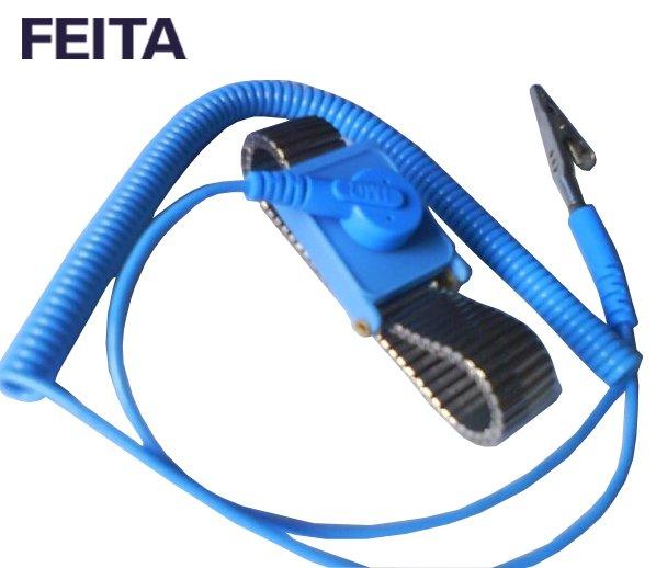 Anti-static metal wrist strap