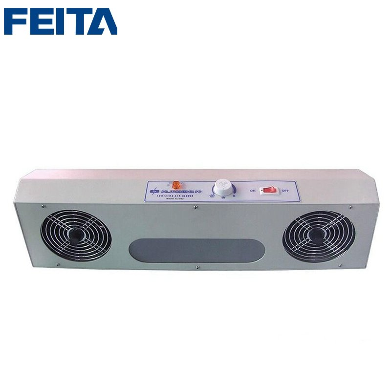 SL-002 Overhead Industrial Ionizing Air Blower Price Ionizer Fan Overtop Ionizer Blower with Two Air Outlets