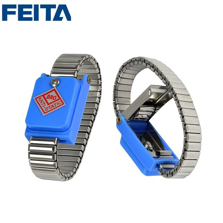 Metal Anti-static Cordless ESD Wrist Strap Elastic Antistatic Wireless WristBand