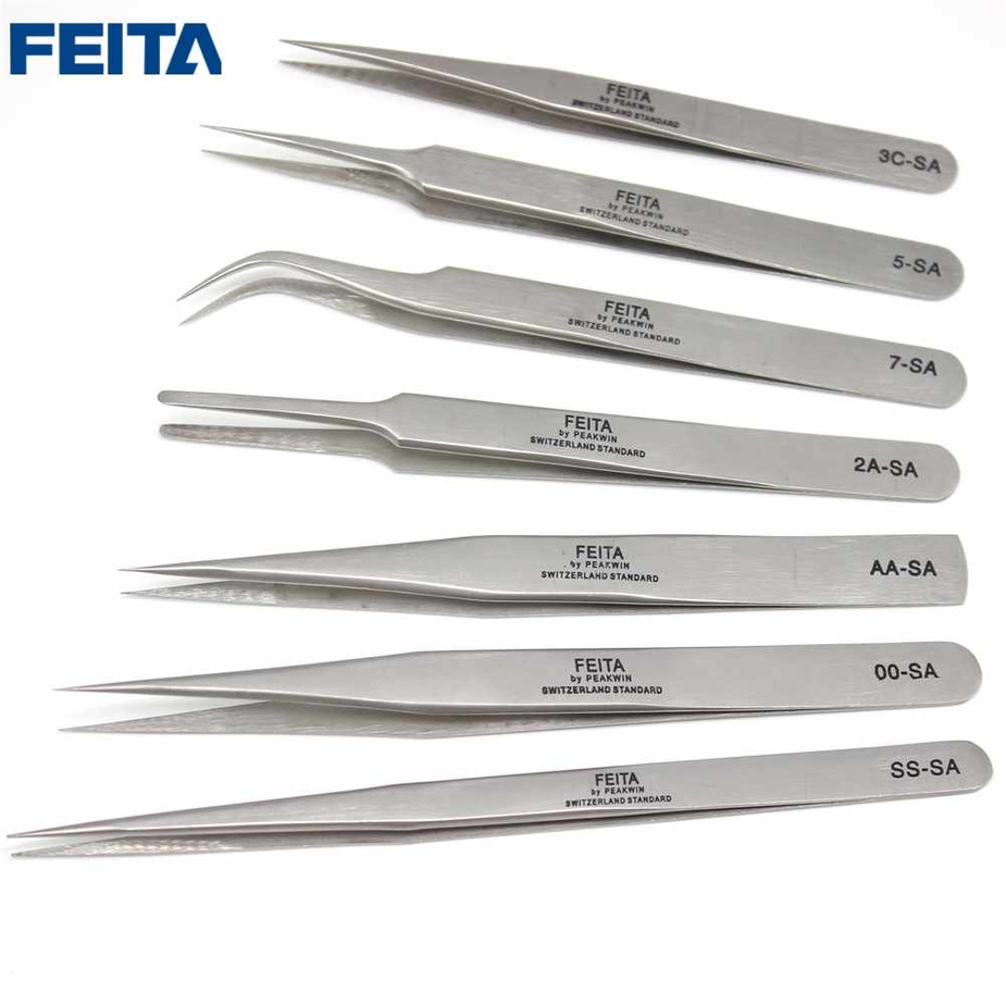 SA Series Stainless steel high precision tweezers