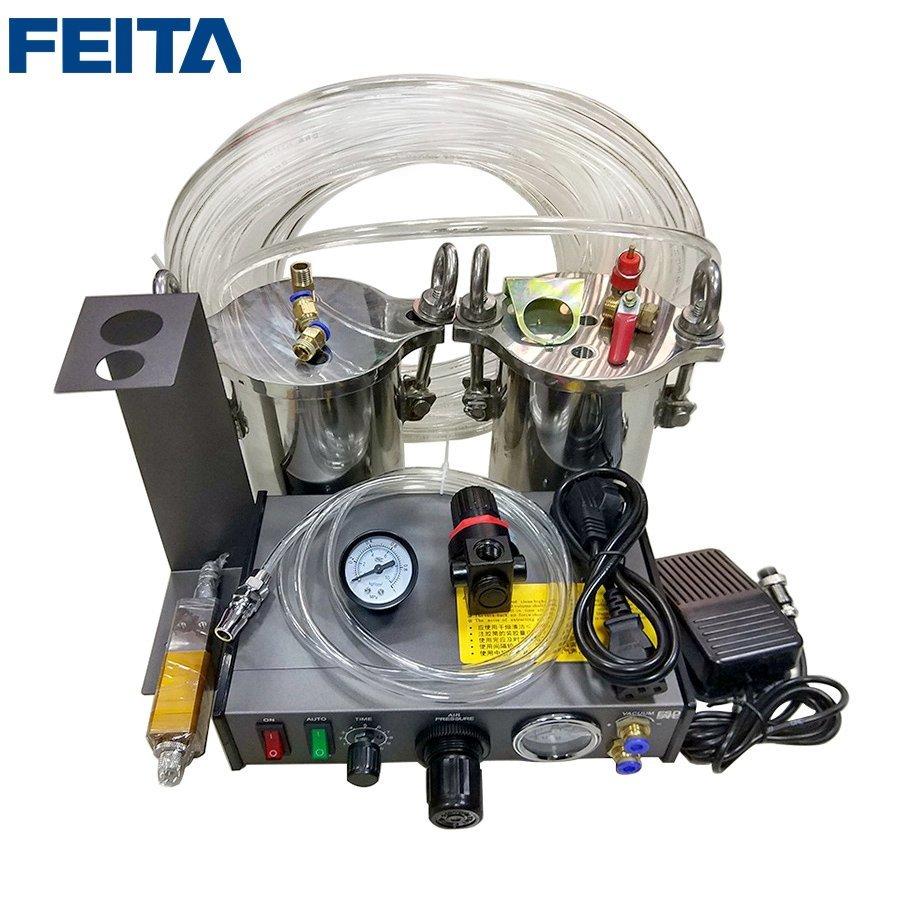 FEITA Semi-suto A B Glue Dispenser Mixing Doming Glue Dispensing Machine Equipment for LED Electronics