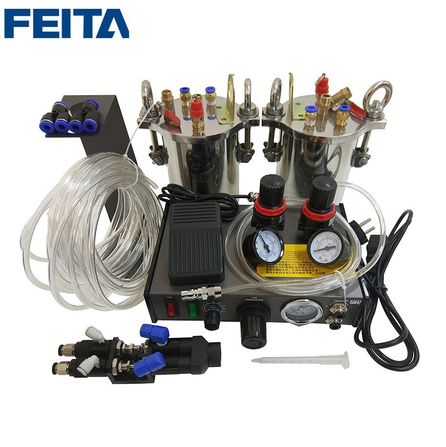 FEITA Semi-suto A B Glue Dispenser Mixing Doming Glue Dispensing Machine Equipment for LED Electronics