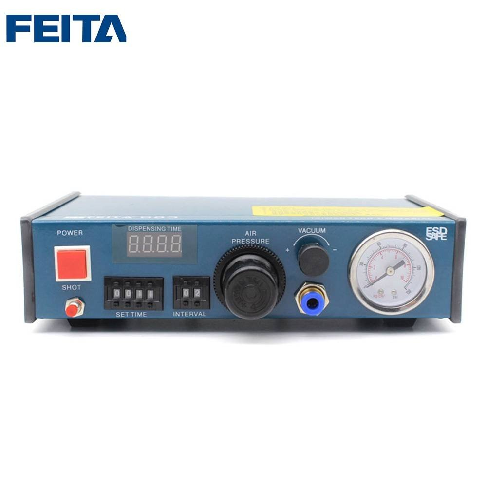 FEITA 983 Epoxy Resin Dispensing Machine Automatic Glue Dispenser Desktop Auto Fluid Glue Filling Dropper Dispensing Controller